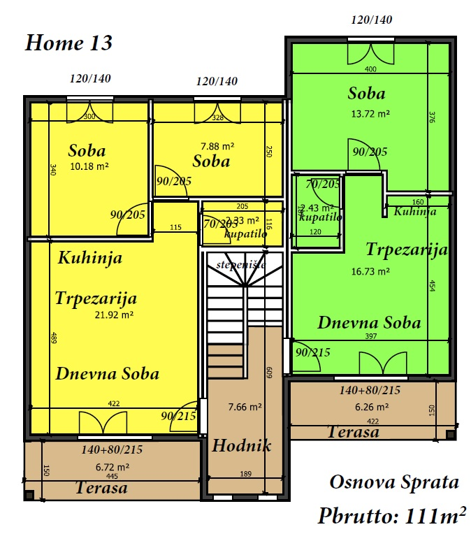 Osnova Sprata Duplex 222